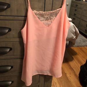 Tobi Tops - Blush pink flowy tank top